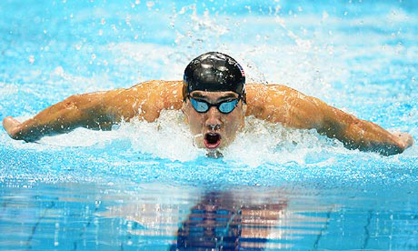 US swimmer Michael Phelps competes in th