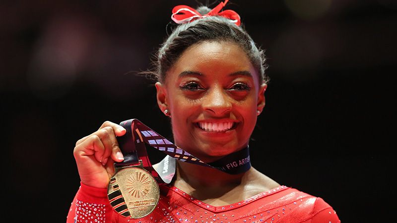 Simone Biles, United States is among Skillful Gymnasts 2017