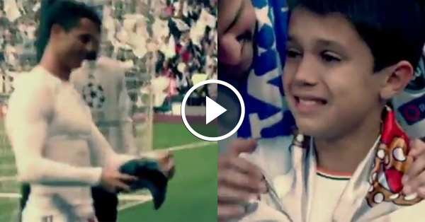 Ronaldo Gives His Shirt to Young Madrid Fan He Hit with Free-Kick