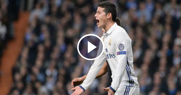GOAL! James scores  the first goal for Real Madrid vs Granada