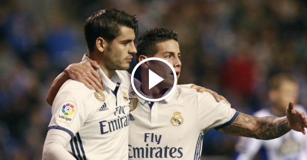 Morata scores Real Madrid's 4th Goal vs Granada