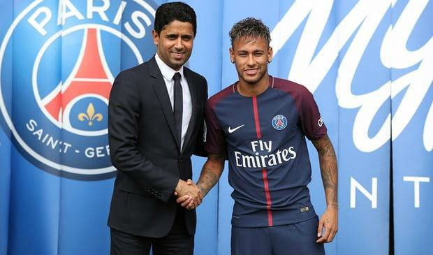 Neymar is PSG's most expensive transfer