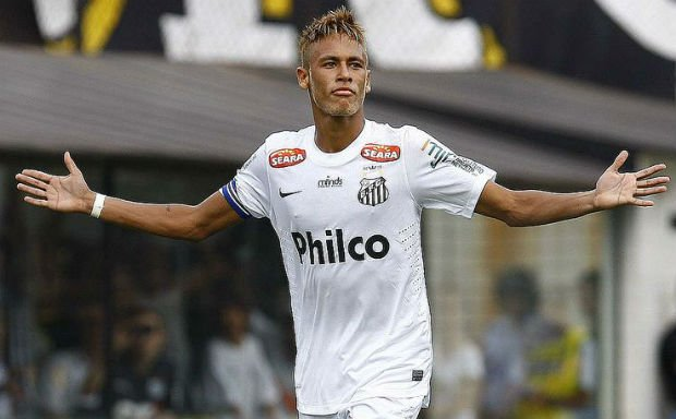 Neymar played just of Santos in his youth