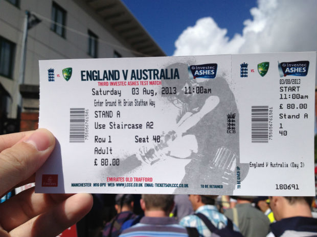 Ashes trophy tickets
