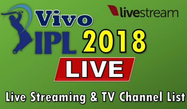 IPL 2018 Live Streaming tv channels list