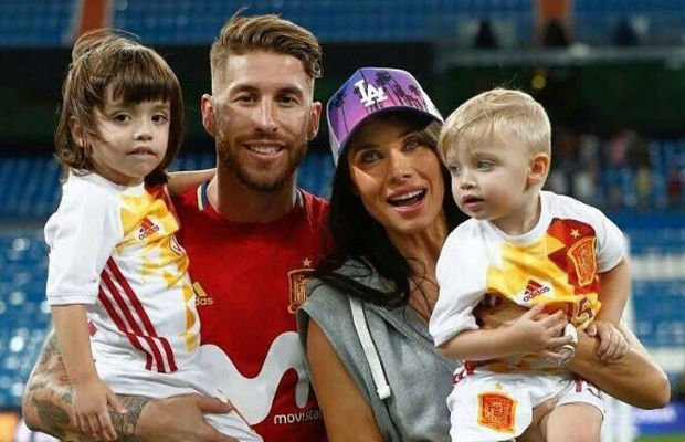 Sergio Ramos Family with Wife and Kids